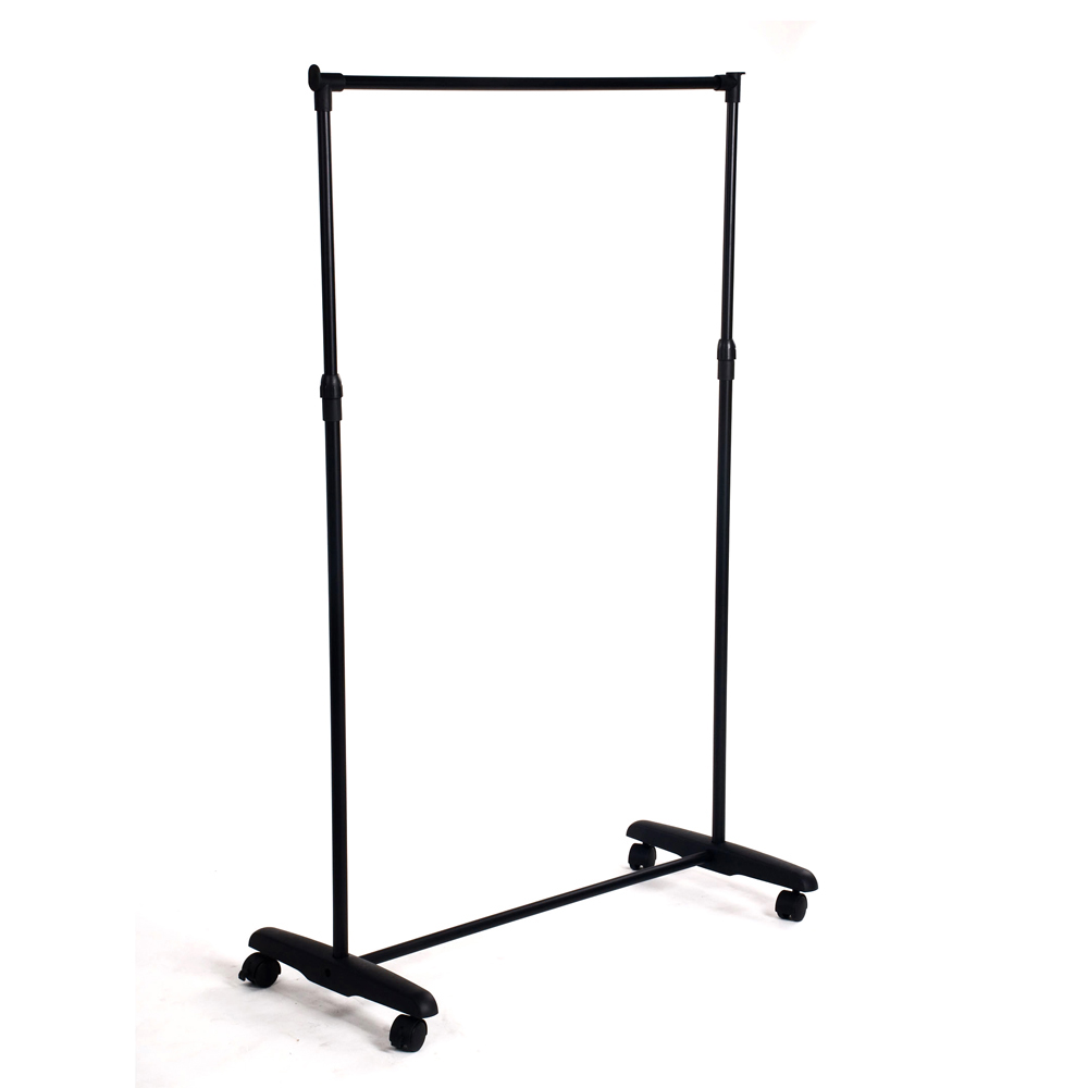 rolling clothes rack hanging garment bar portable adjustable heavy hanger ebay. Black Bedroom Furniture Sets. Home Design Ideas