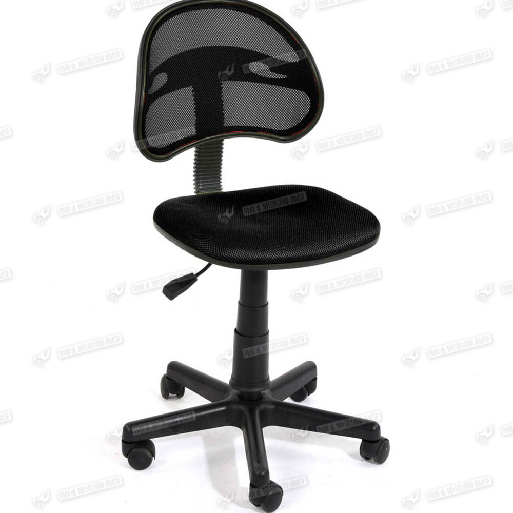 executive office furniture chair work desk adjustable black no arms